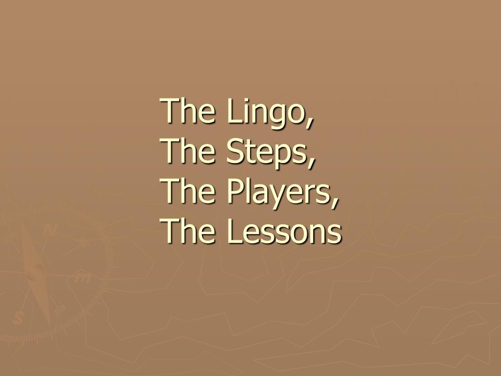 The Lingo,
