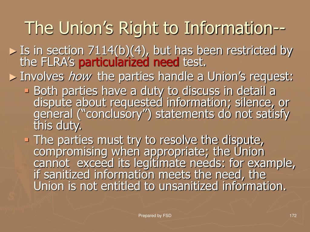 The Union's Right to Information--