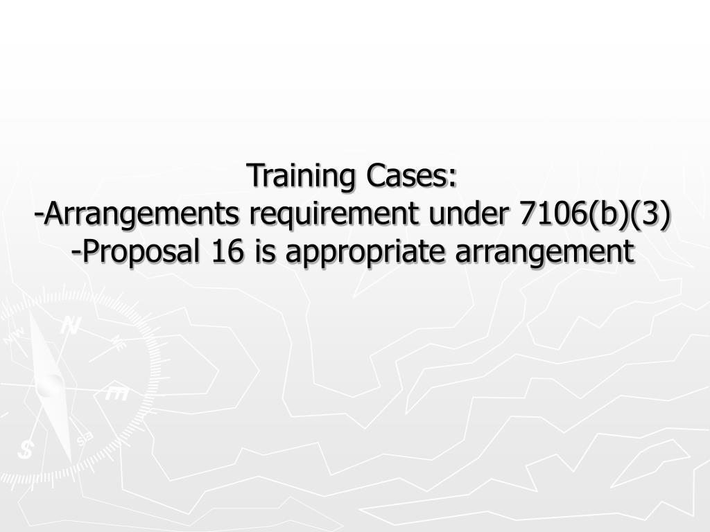 Training Cases: