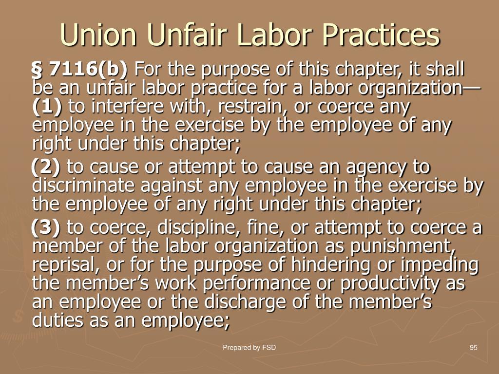 Union Unfair Labor Practices