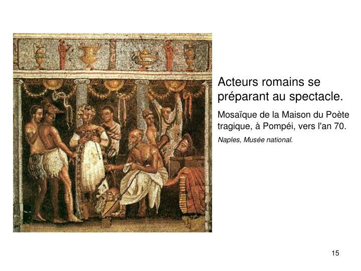 Acteurs romains se préparant au spectacle.