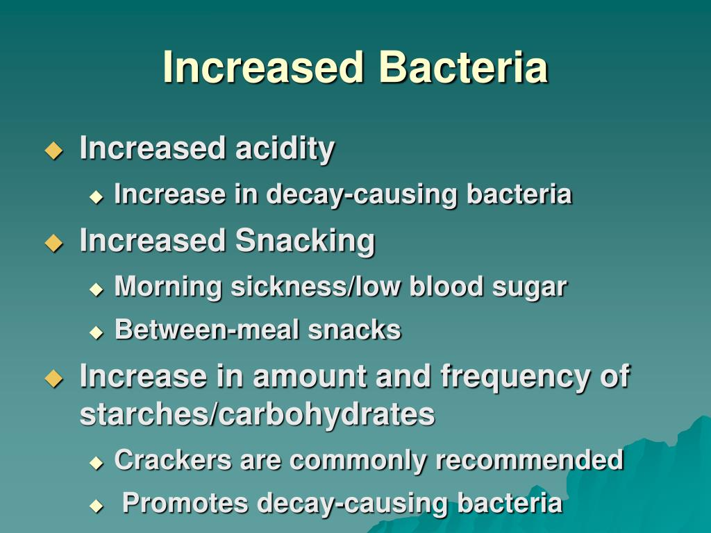 Increased Bacteria