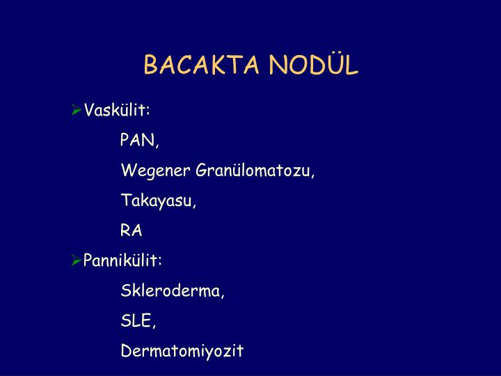BACAKTA NODÜL