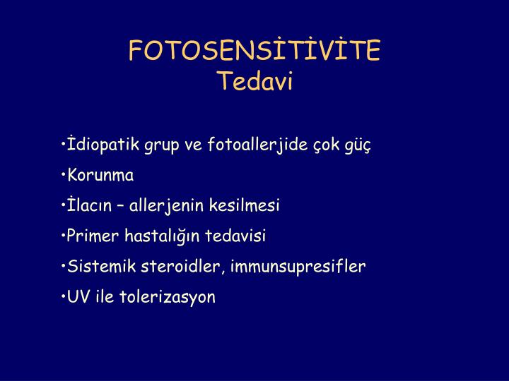 FOTOSENSİTİVİTE
