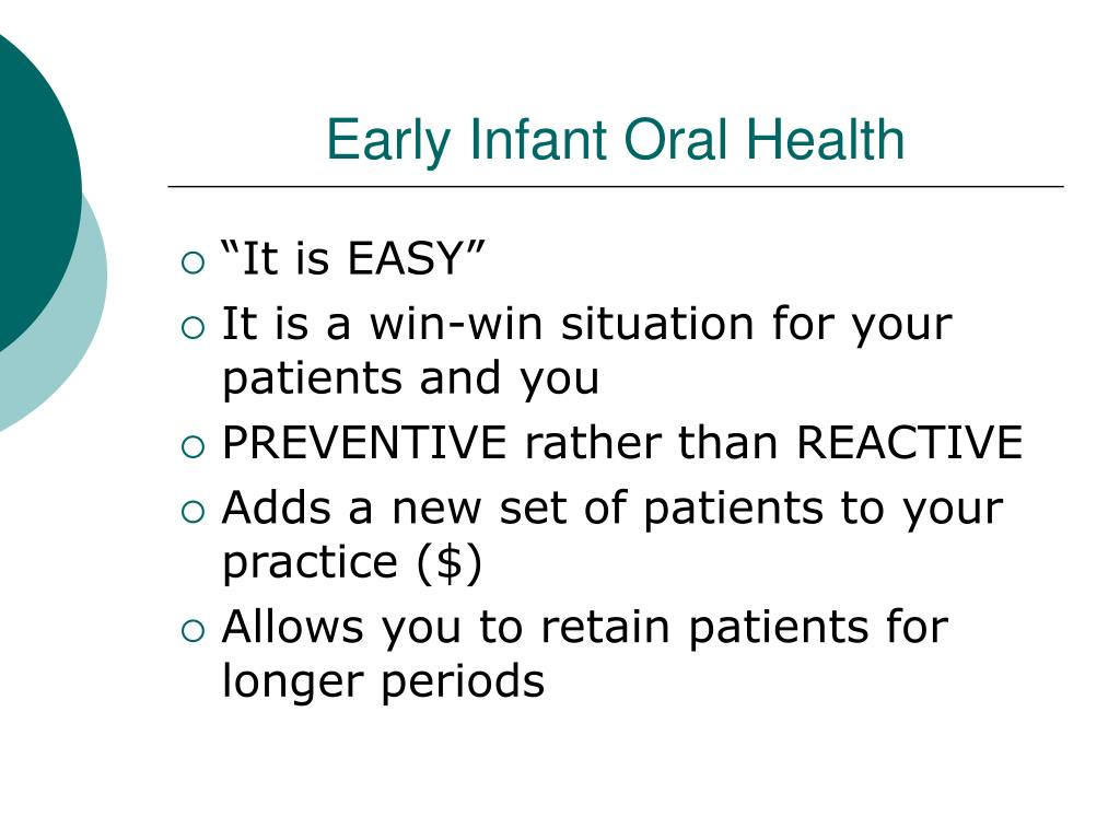 Early Infant Oral Health
