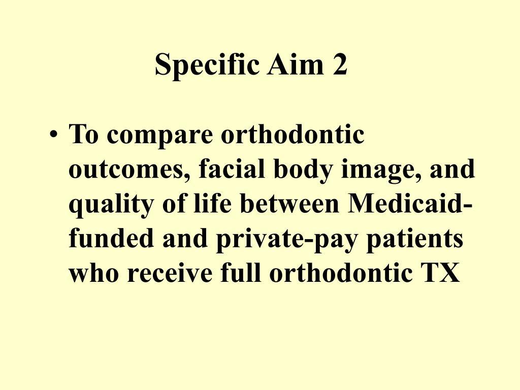Specific Aim 2