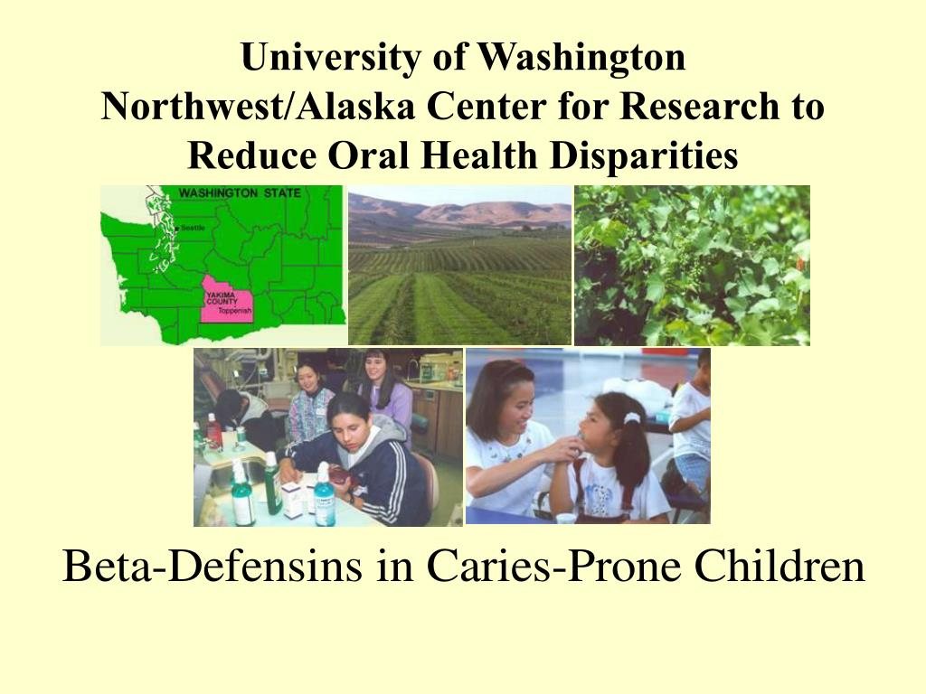 University of Washington Northwest/Alaska Center for Research to Reduce Oral Health Disparities