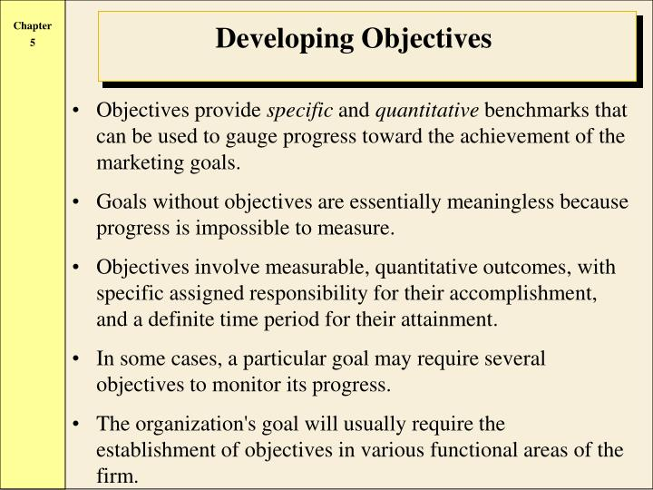 Objectives provide