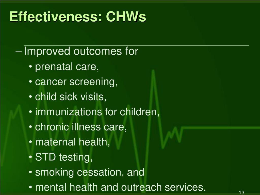Effectiveness: CHWs