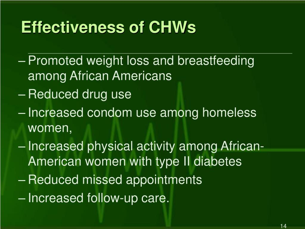 Effectiveness of CHWs