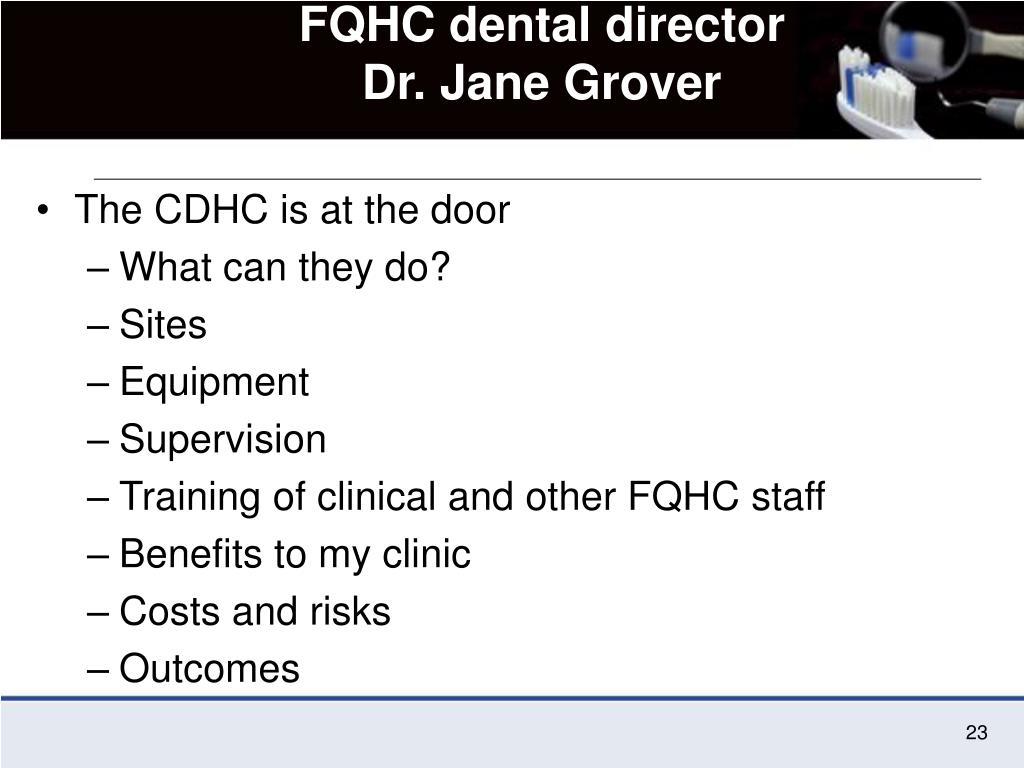FQHC dental director