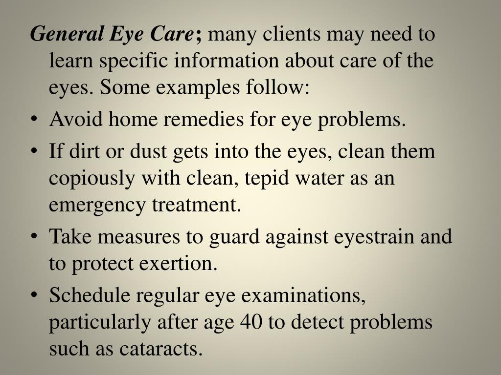 General Eye Care