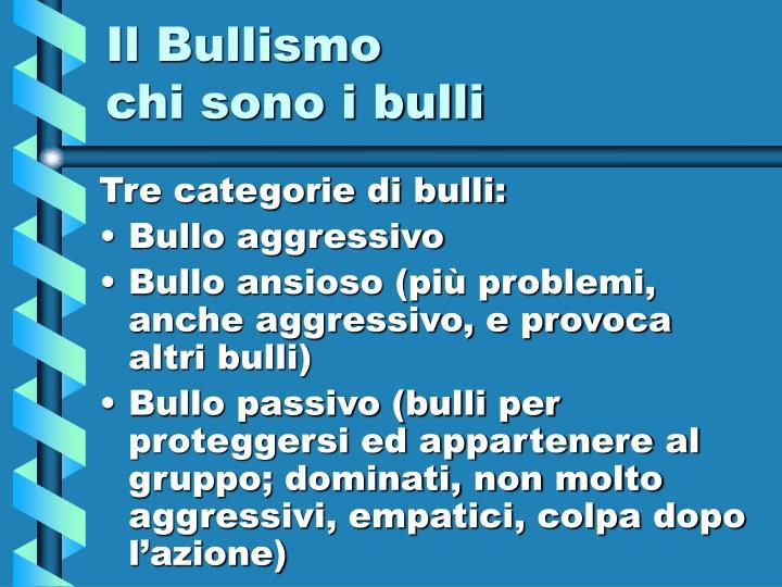 Il Bullismo