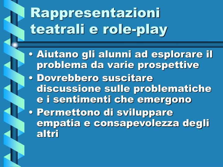 Rappresentazioni teatrali e role-play