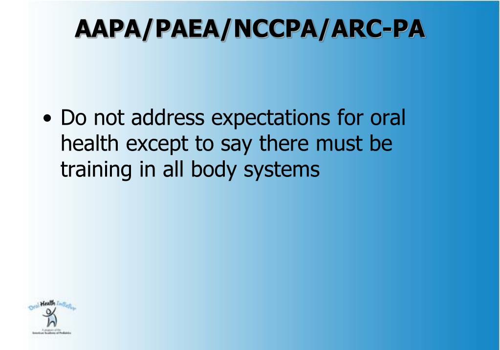 AAPA/PAEA/NCCPA/ARC-PA