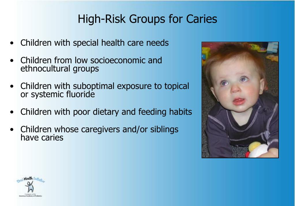 High-Risk Groups for Caries