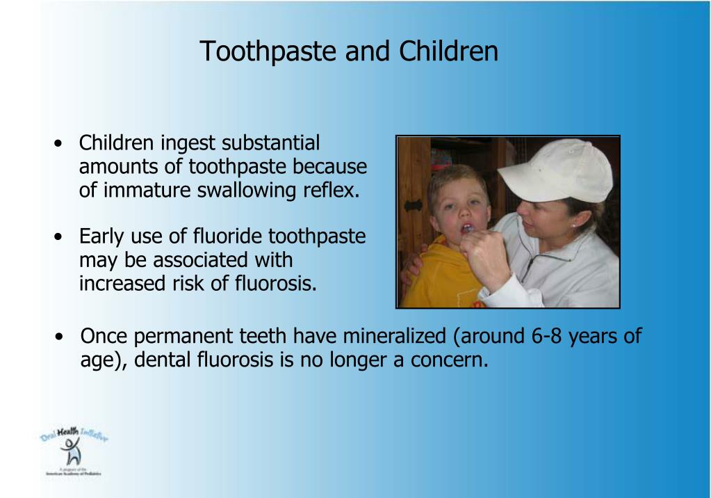 Toothpaste and Children