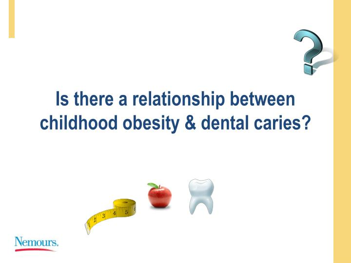 Is there a relationship between childhood obesity dental caries