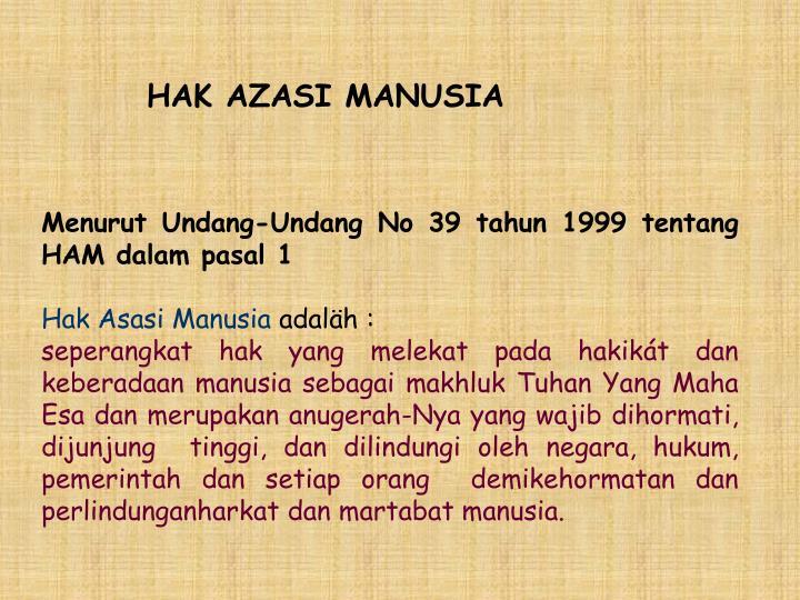 HAK AZASI MANUSIA