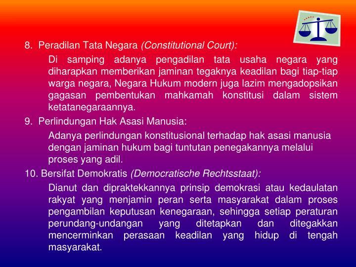 8.  Peradilan Tata Negara