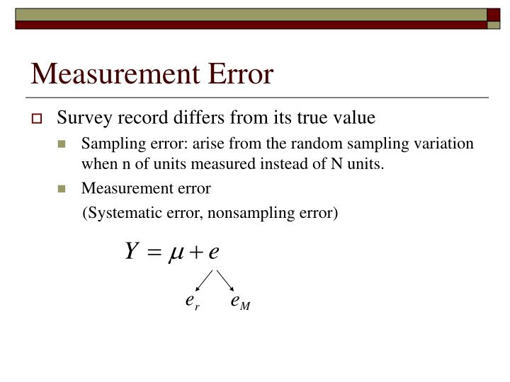 Measurement error1