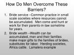 how do men overcome these barriers