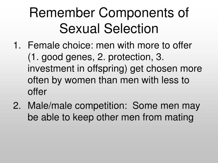 Remember Components of Sexual Selection