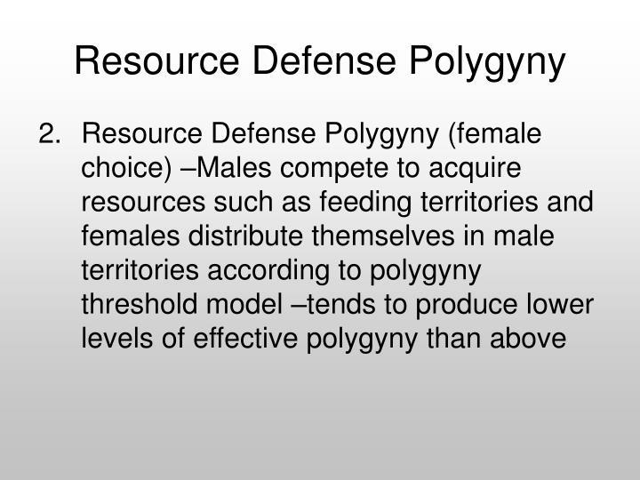 Resource Defense Polygyny