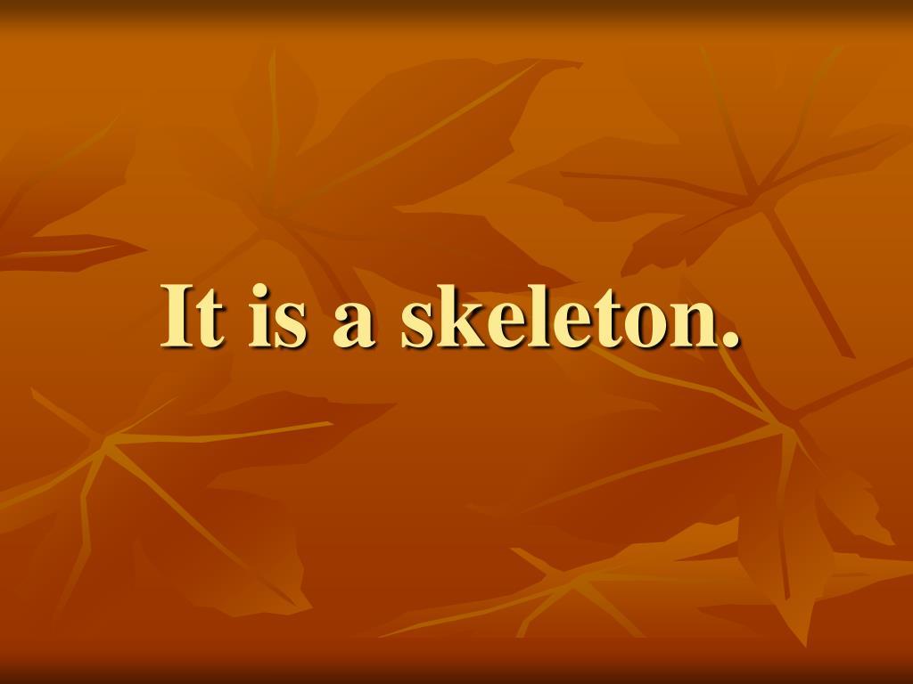 It is a skeleton.