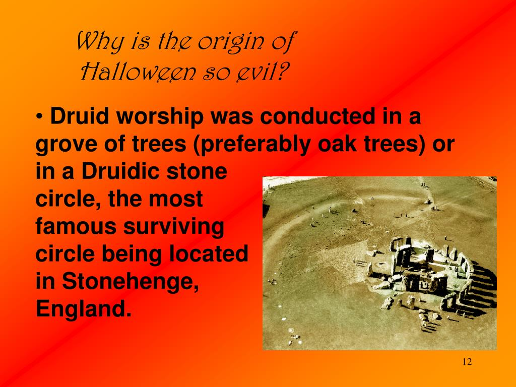 Why is the origin of Halloween so evil?