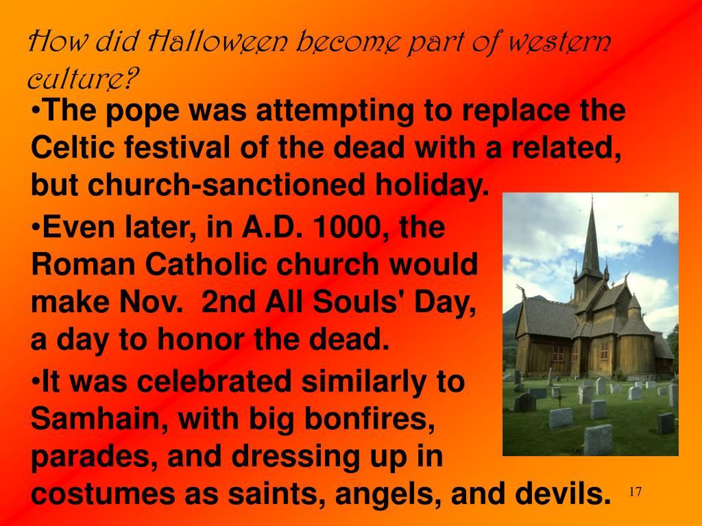 How did Halloween become part of western culture?