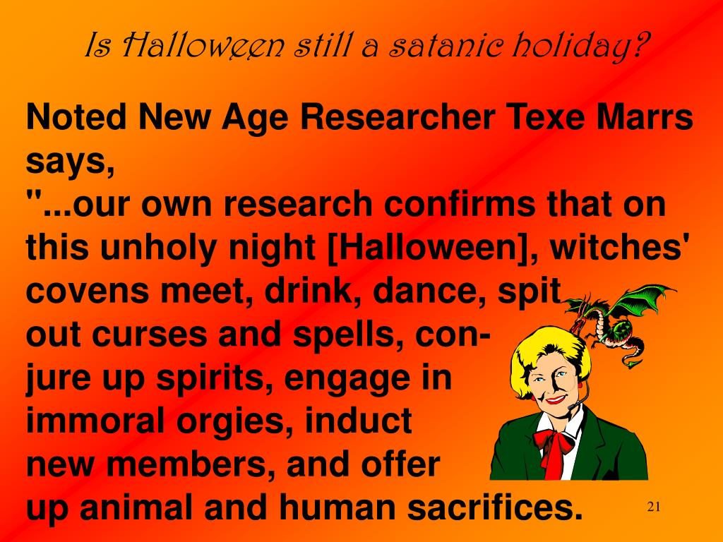 Is Halloween still a satanic holiday?