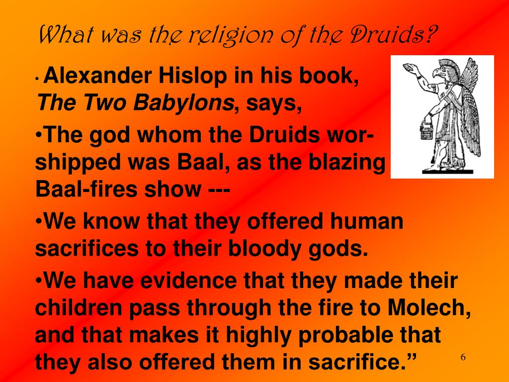 What was the religion of the Druids?