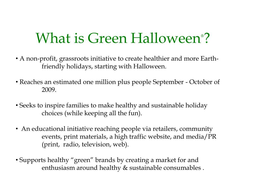 What is Green Halloween