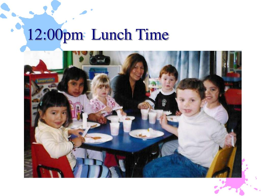 12:00pm  Lunch Time