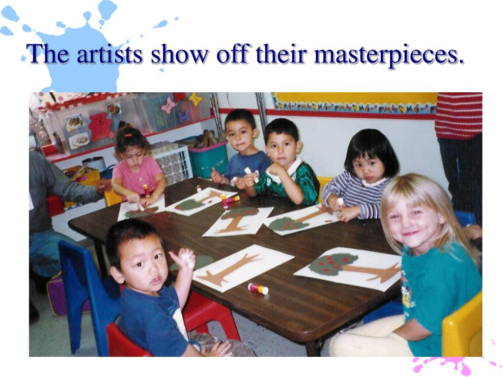 The artists show off their masterpieces.