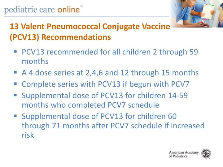 13 Valent Pneumococcal Conjugate Vaccine