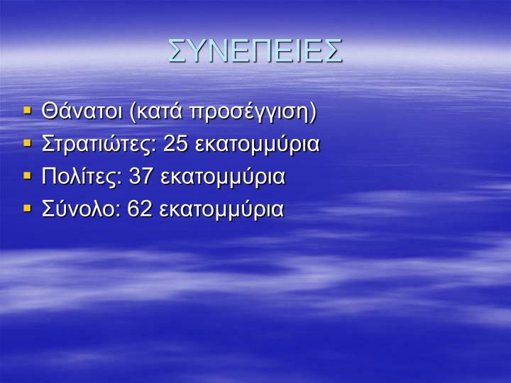 ΣΥΝΕΠΕΙΕΣ