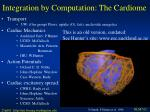 integration by computation the cardiome