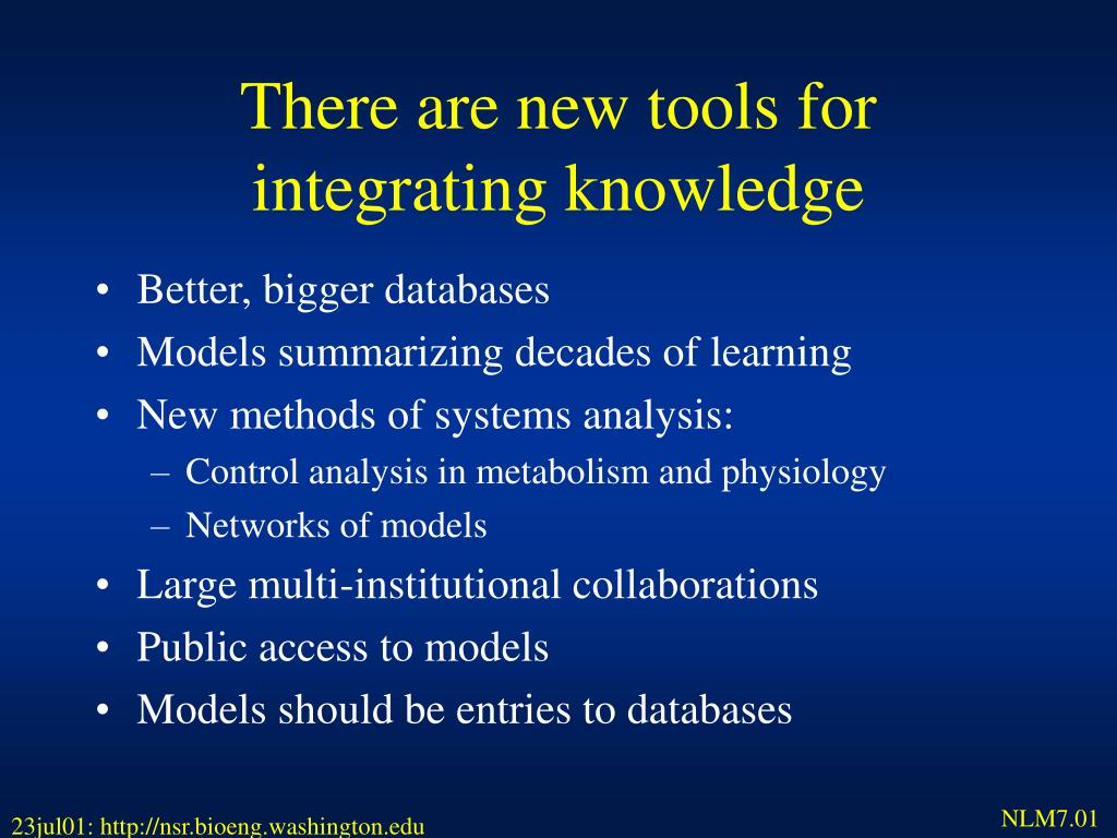 There are new tools for integrating knowledge