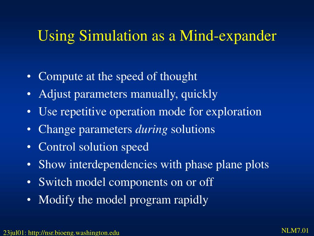 Using Simulation as a Mind-expander