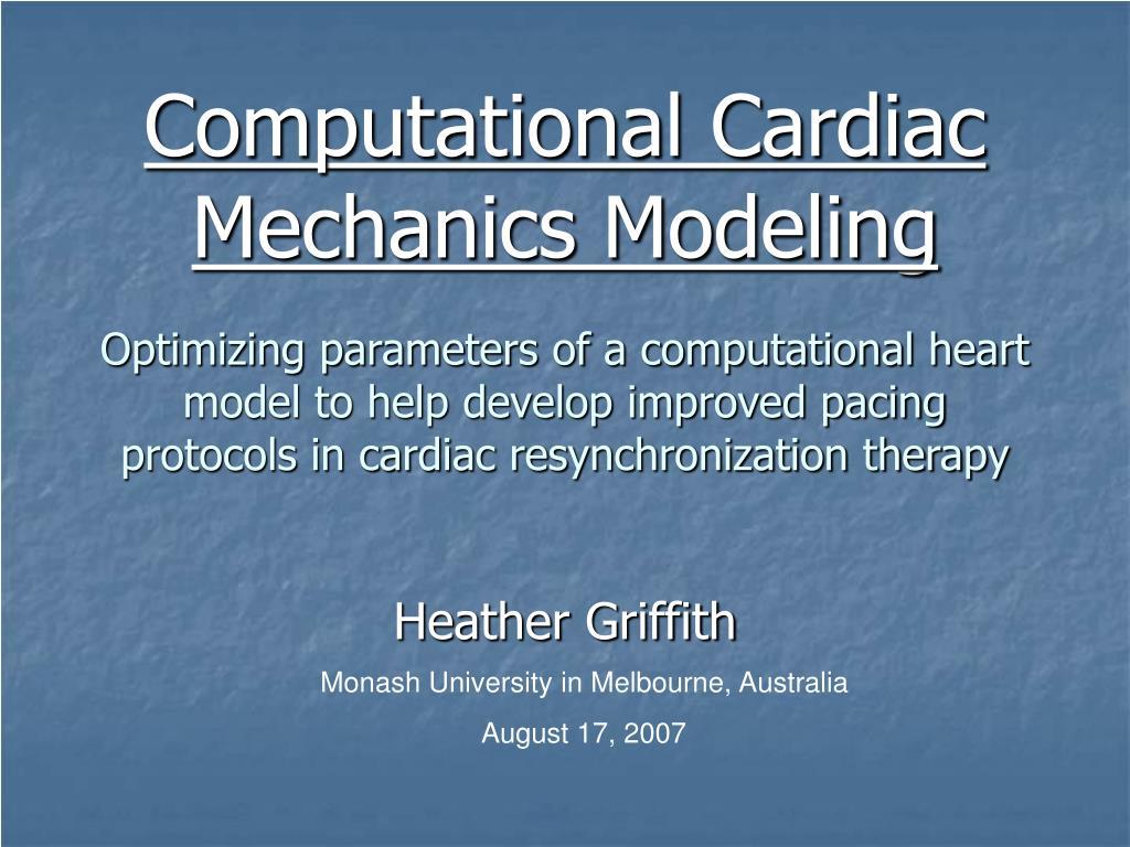 Computational Cardiac Mechanics Modeling