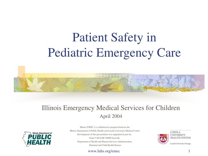 Patient safety in pediatric emergency care