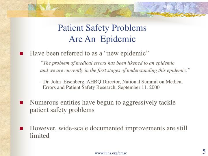 Patient Safety Problems