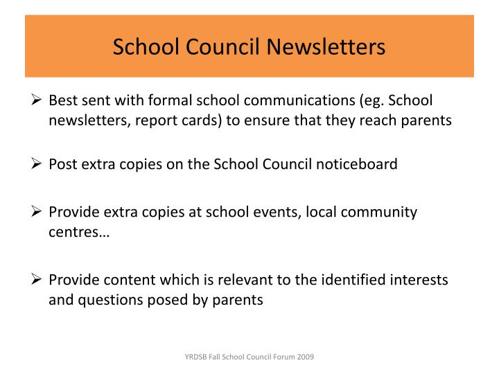 School Council Newsletters