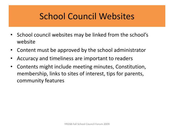 School Council Websites