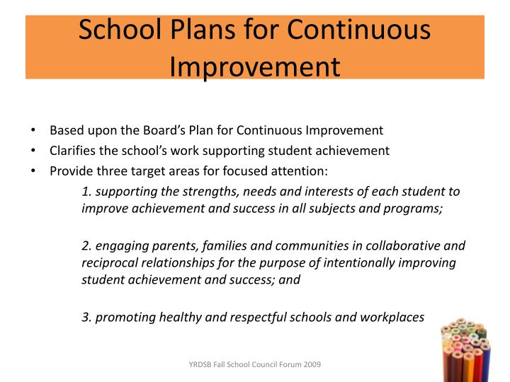 School Plans for Continuous Improvement
