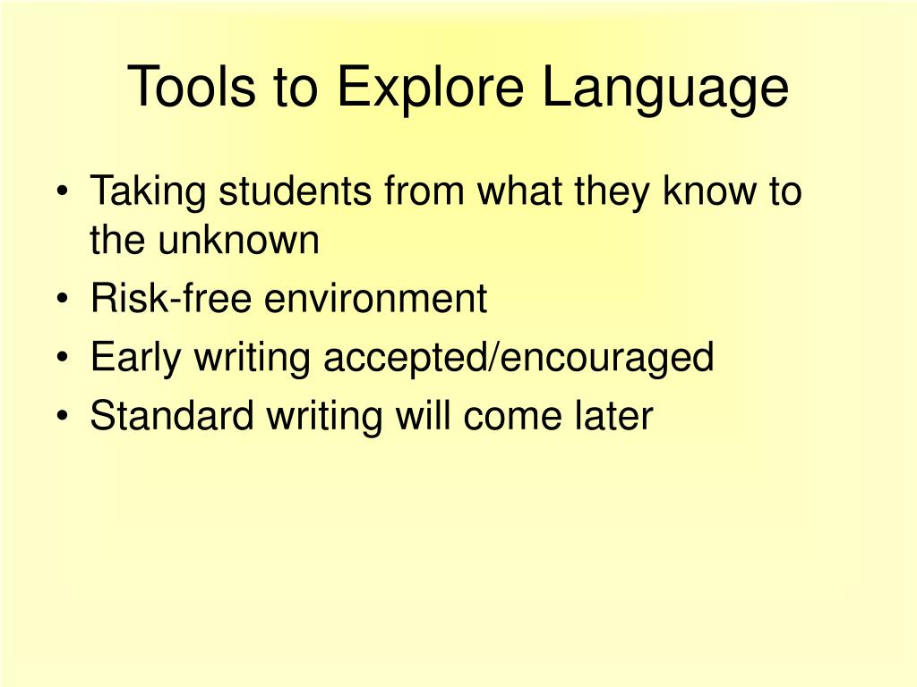 Tools to Explore Language