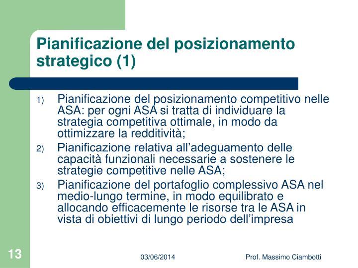 Pianificazione del posizionamento strategico (1)