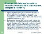 struttura del sistema competitivo secondo il modello della concorrenza allargata di porter 1